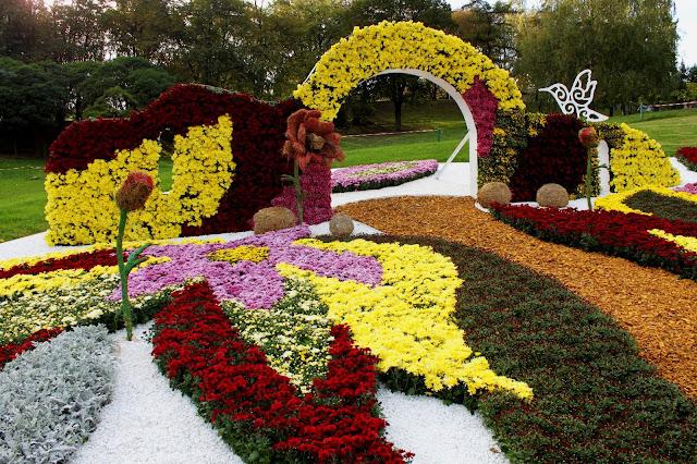 «Фантастический город цветов» на выставке хризантем 2017