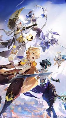 Genshin Osial Battle - Arte Wallpaper