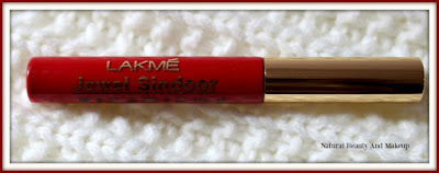 Lakme Jewel (Liquid) Sindoor in Red Shade, review, swatch & FOTD