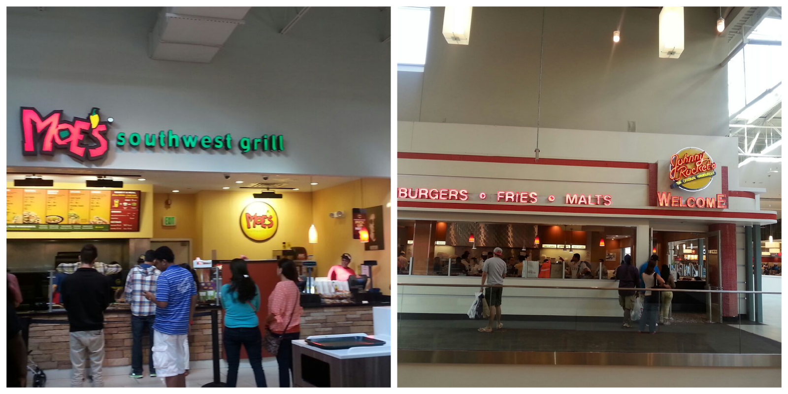 Food Court In Jersey Gardens Mall
