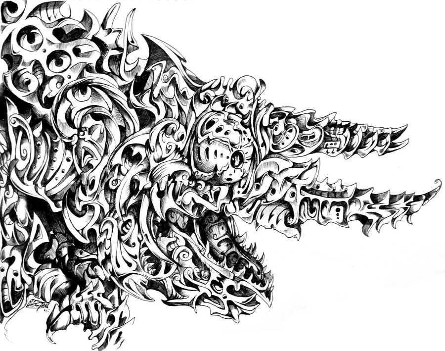 13-Chameleon-René-Campbell-Art-in-Animal-Doodle-Drawings-www-designstack-co
