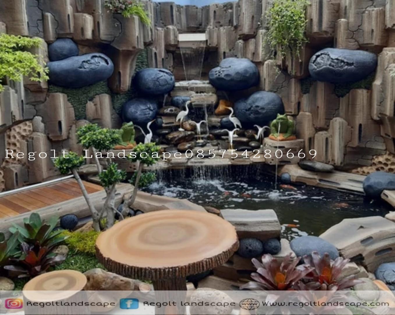 Jasa Tukang Dekorasi Kolam Tebing, Relif 3D Di Gresik