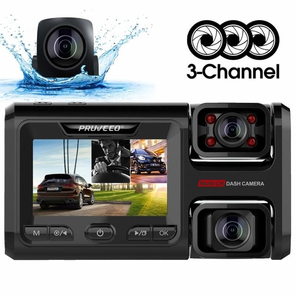 Pruveeo D40 Dual Channel Dash Cam for Cars