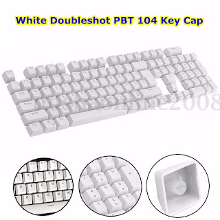 104pcs Key cap Capuchon blanc Doubleshot Clavier touches Pour Cherry MX Keyboard