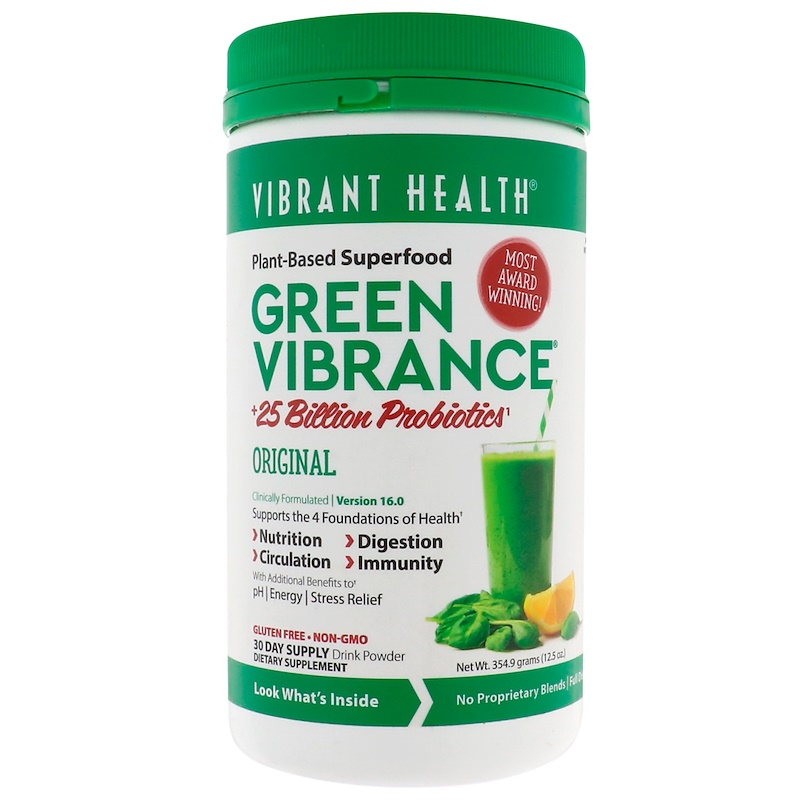 Vibrant Health, Green Vibrance +25 Billion Probiotics, Version 16.0, 12.5 oz (354.9 g)