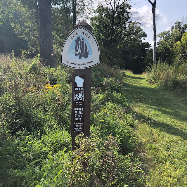 The Ice Age National Scenic Trail Marker greeted us as we started the trail.