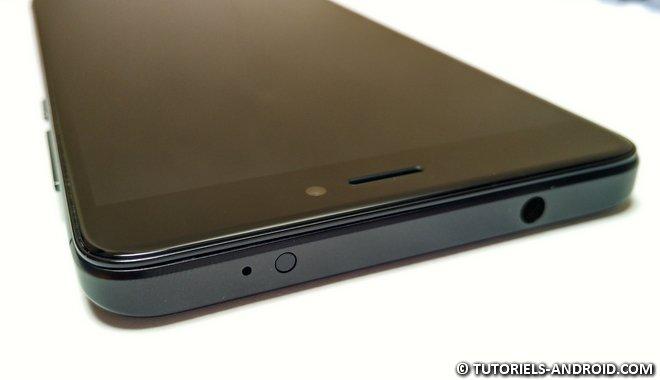 Redmi Note 4X : partie haute IR et micro jack