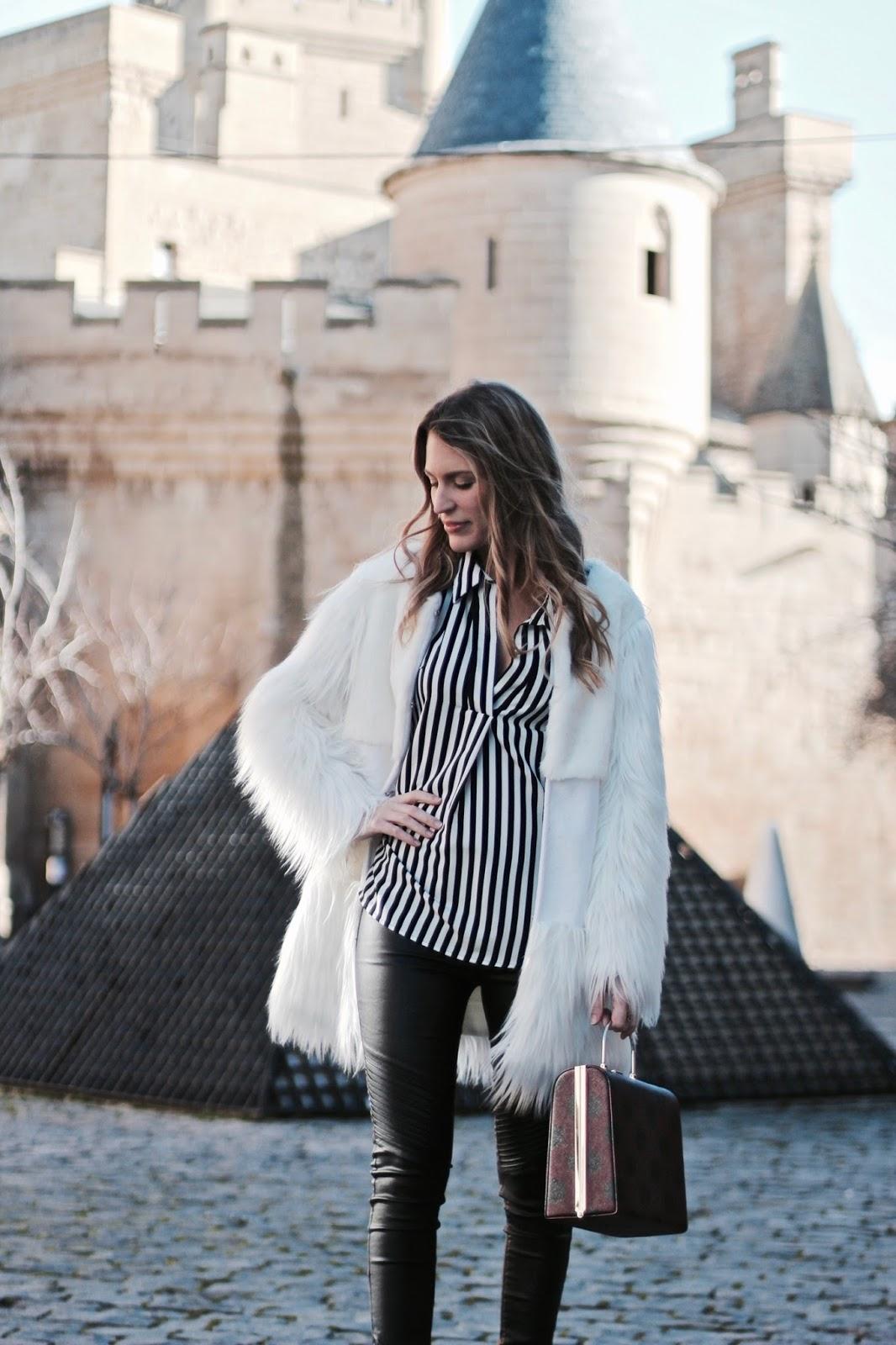 como llevar abrigo blanco