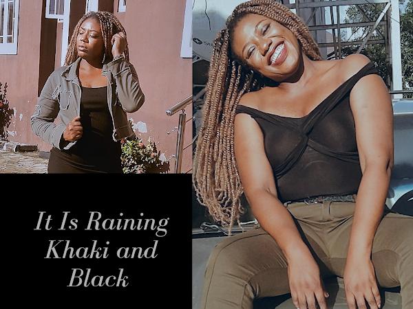 Khaki And Black