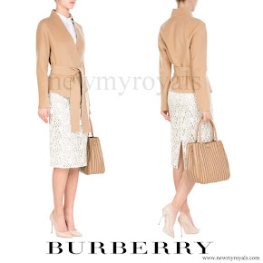 Countess of Wessex wore BURBERRY Lace Pencil Skirt