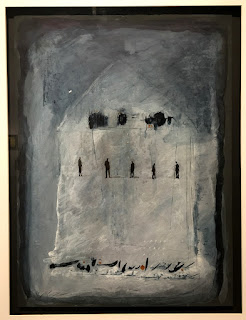 Hossein Maher - visible castle - acrylic on cardboard