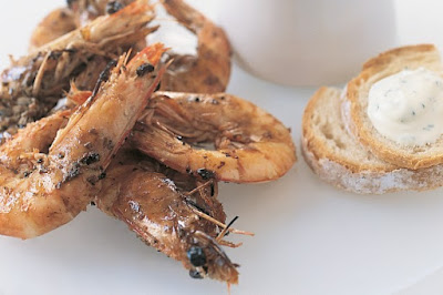 Barbecued prawns with quick aioli meal ideas