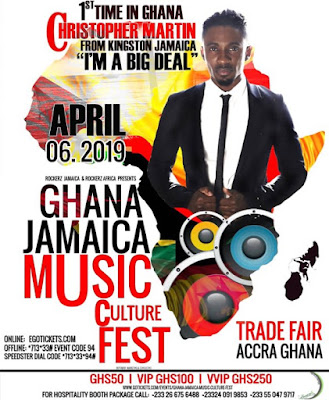 Christopher Martin to perform in Ghana on April 6 At Trade Fair Center, La – Accra