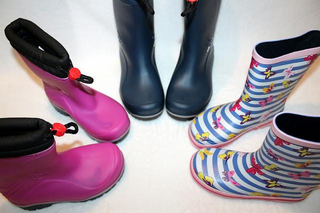 bottes de pluie colorées