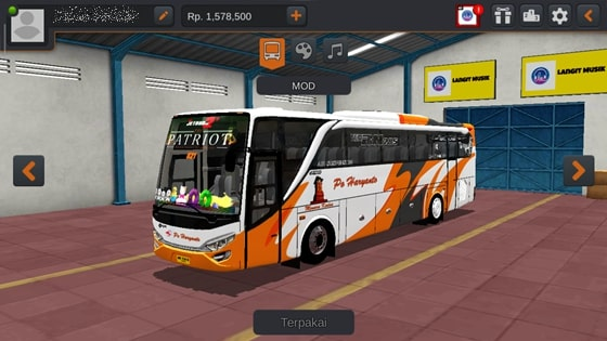 Livery JBHD2 New Setra MD Creation PO Haryanto Patriot