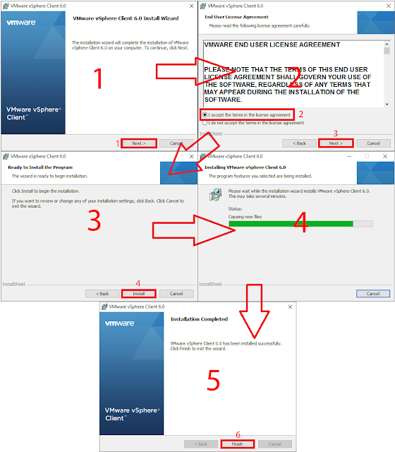Asistente de instalación de VMware vSphere Client 6.0.