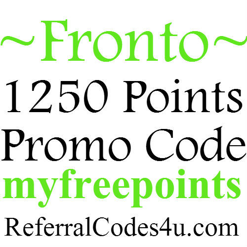 Fronto Referral Code 1250 Points Bonus, Fronto App Promo Code 2021