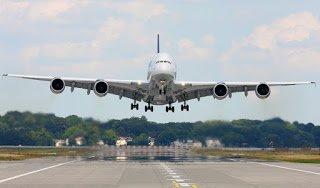 pesawat turun ke bandara international
