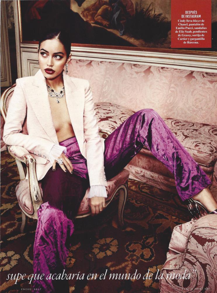 Cindy Kimberly : Vanity Fair Spain - January 2017