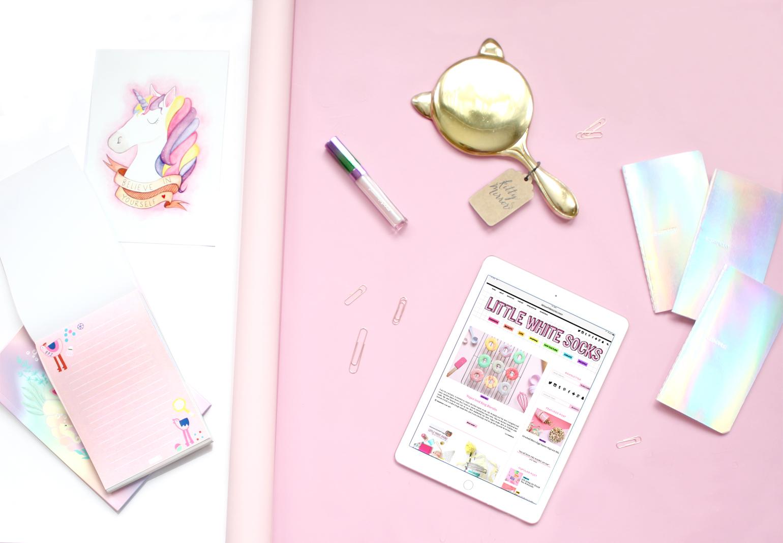 pink lifestyle flatlay
