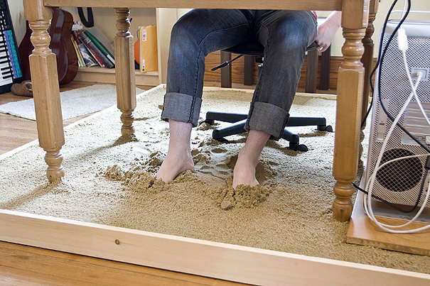 Beach Sand Under Your Work Desk