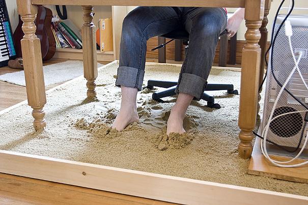 Beach Sand Under Your Work Desk