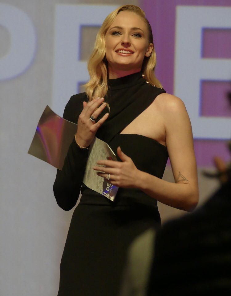 Sophie was honoured with Deauville's Hollywood Rising Star award at the event