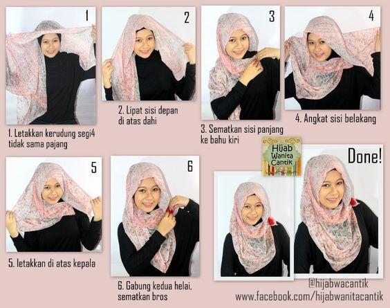 Tutorial Hijab Segi Empat Simple Beauty H