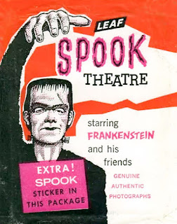 Packaging for Leaf's Spook Theatre trading cards, circa 1962