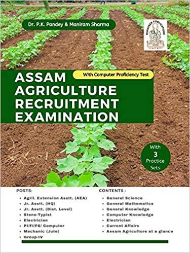 Assam Agriculture Recruitment Examination Book (English)