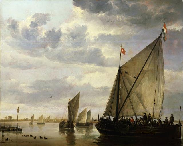 Альберт Кёйп - Лодки на реке