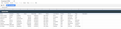 "Screenshot Reiter ""Opportunities"" in Onesheet CRM"