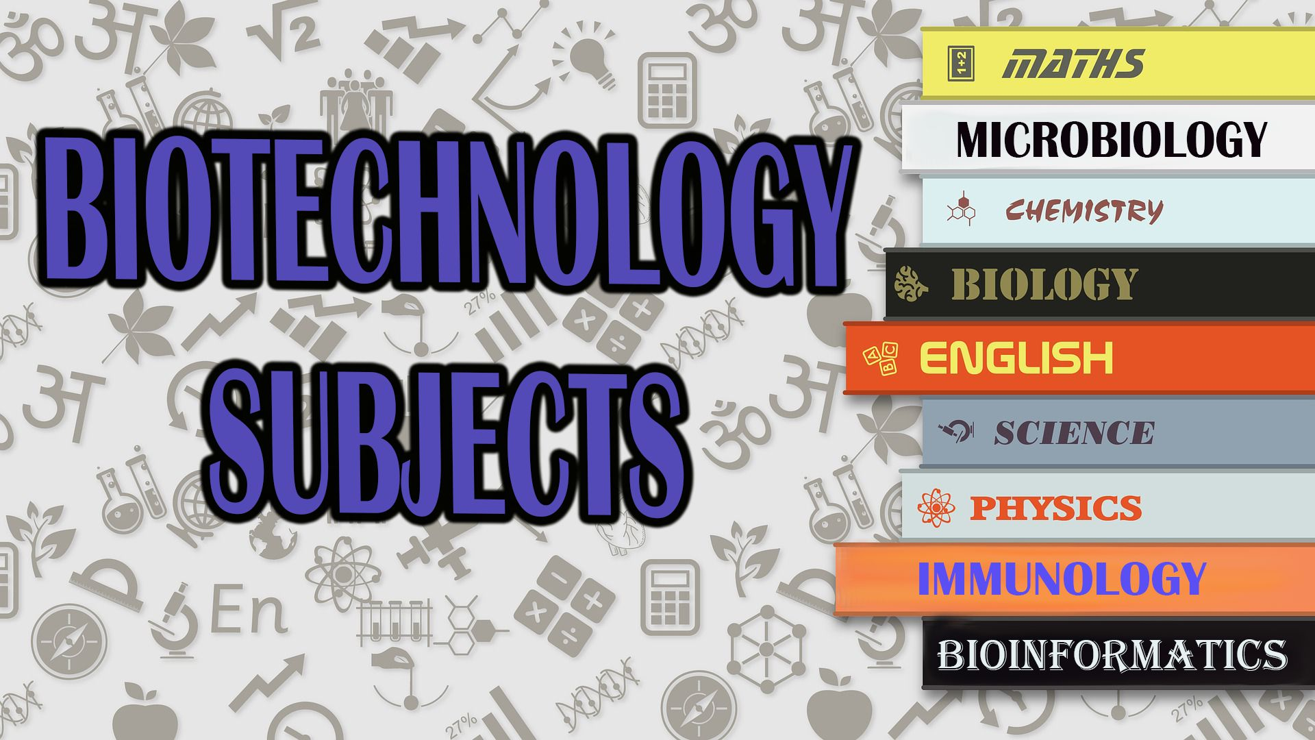 biotechnology subjects