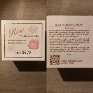 Skin79's Rose Waterfull Mask Review