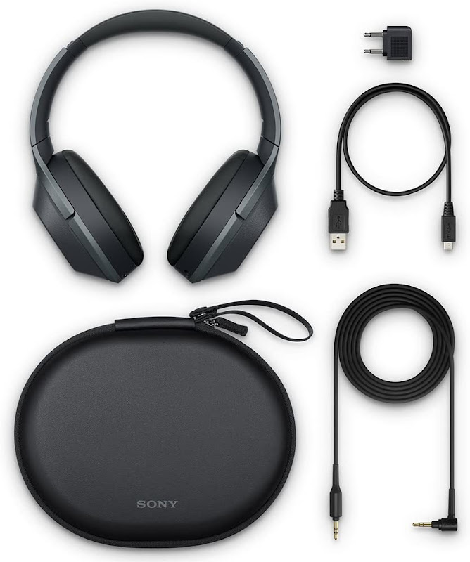 Sony WH-1000XM2 Headphones with all its accessories.