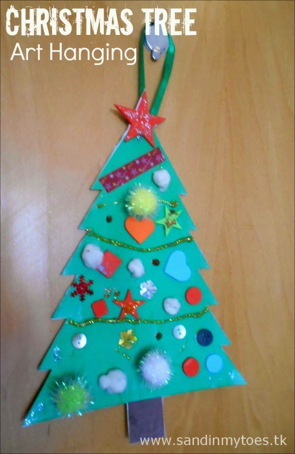 Christmas Tree Art Hanging