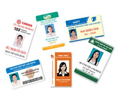 In thẻ nhựa nhân viên