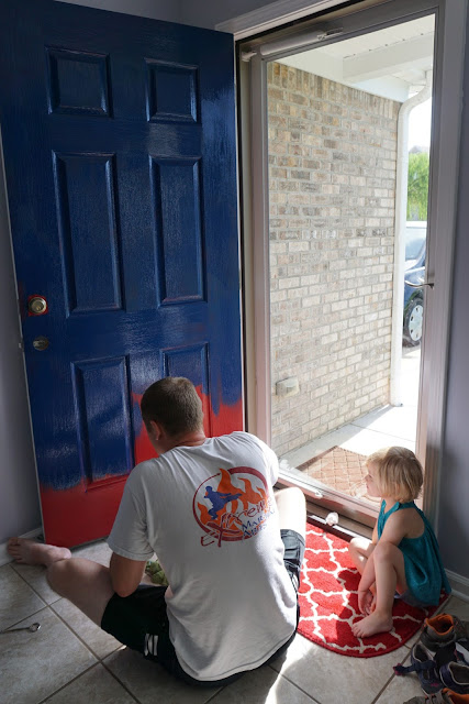 Painting the Front Door Blue