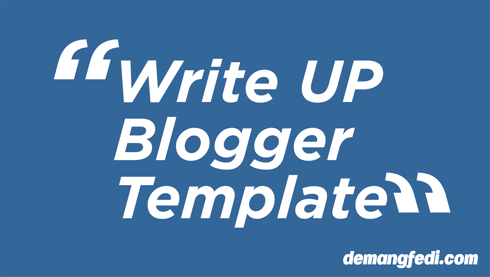 Template Blogger Magazine Simple Write UP