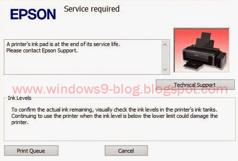 Epson L360 Service Required Blink Indikator Tinta