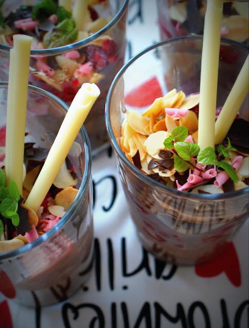 deser lodowy,symbio,lody,mięta,maliny,desery z malinami,