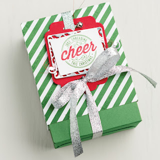 Stampin' Up! Here's to Cheers + Cheerful Tags Thinlit Dies easy gift packaging