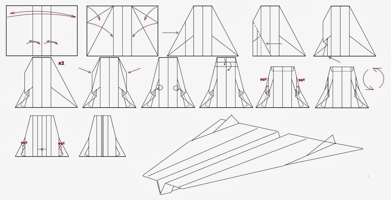 Avión de papel Wing 58