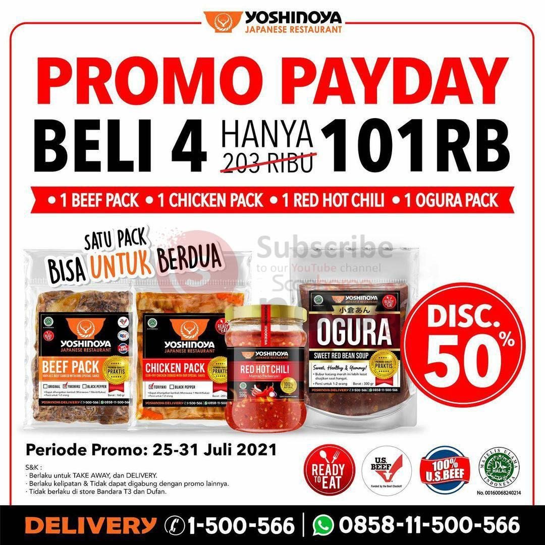 YOSHINOYA PAYDAY  Promo Beli 4 hanya Rp. 101.000