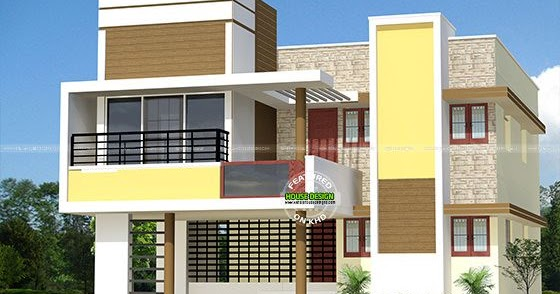 Modern tamilnadu house in 2400 sq ft kerala home design for Modern house plans 2400 sq ft