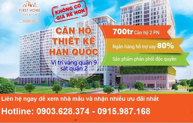 Mở bán căn hộ First Home quận 9