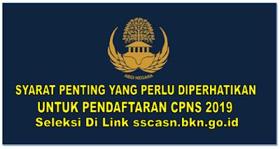 Syarat Penting yang Perlu Diperhatikan Untuk Pendaftaran CPNS 2019
