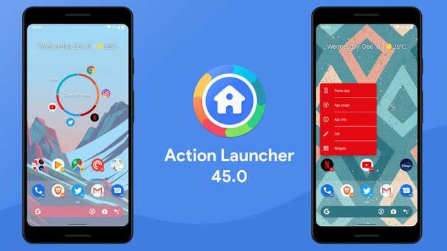 يدعم Action Launcher الآن التنقل بالإيماءات لنظام Android 10