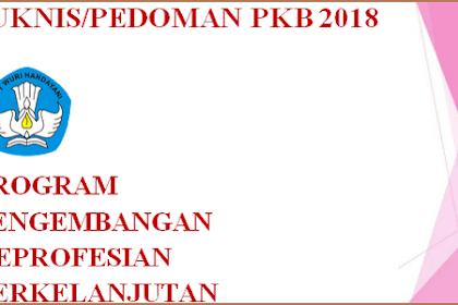 Juknis/Pedoman PKB 2018 PDF (Program Pengembangan Keprofesian Berkelanjutan)