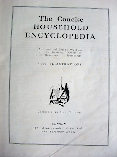 vintage 30s Household Encyclopedia by Hammertons